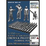1/350 Battle of Midway USS Carrier Crews Set A (Normal Pose)